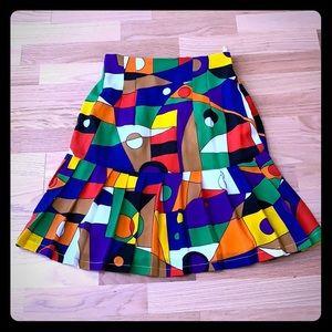 Vibrant color vintage skirt
